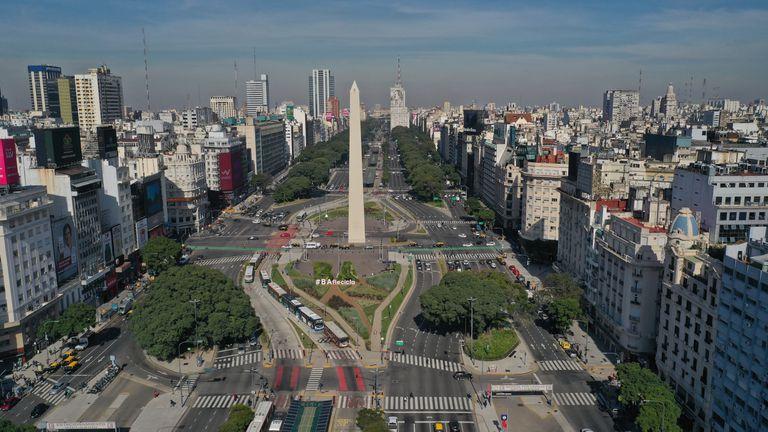 Una imagen panorámica del Obelisco