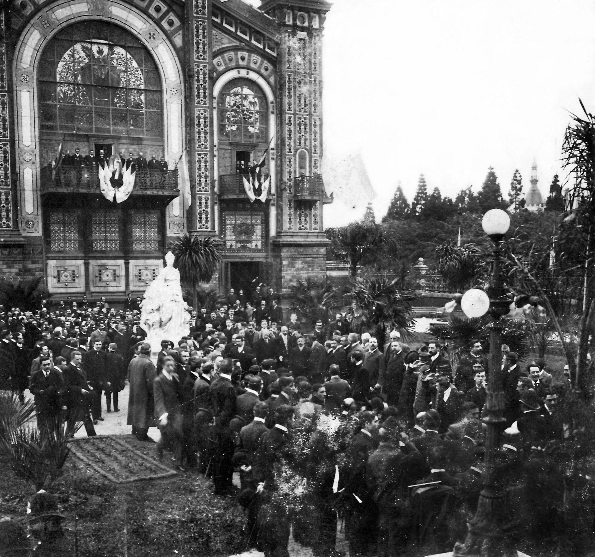Recepción del ministro chileno Carlos Concha Subercaseaux, acompañado del Presidente Julio A. Roca. Mayo de 1903.
