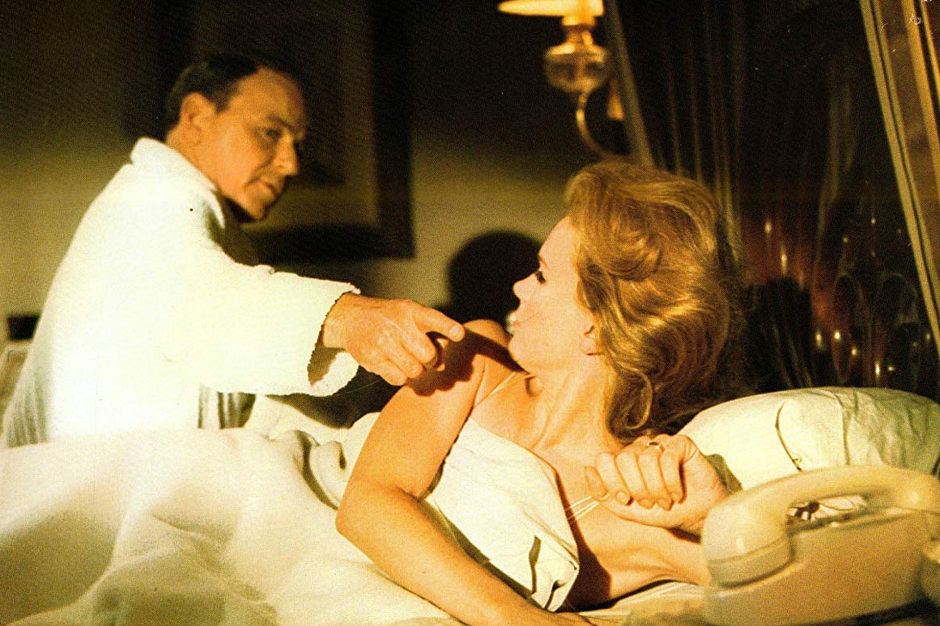 Frank Sinatra y Lloyd Bochner en El detective, de 1968