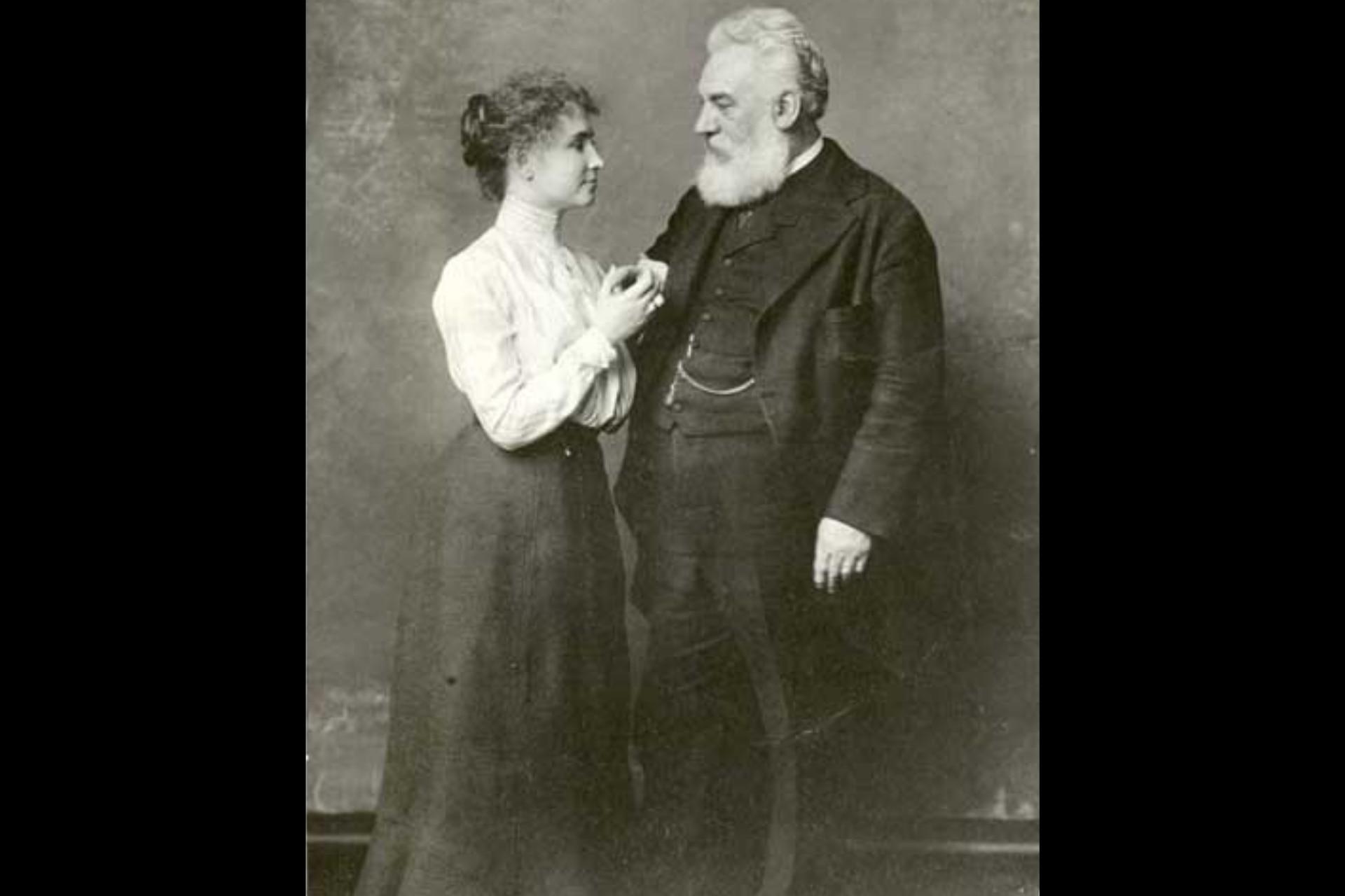 Hellen Keller y Alexander Graham Bell mantuvieron durante años una amistad