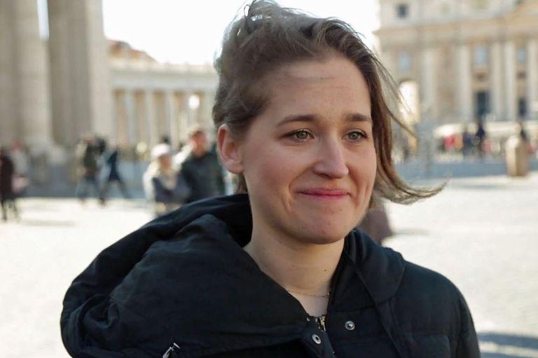Zuzanna Flisowska, en la Plaza San Pedro