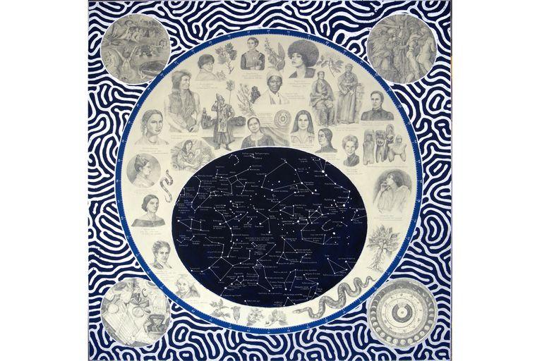 Obra de la argentina Adriana Bustos, en la Bienal de Sharjah