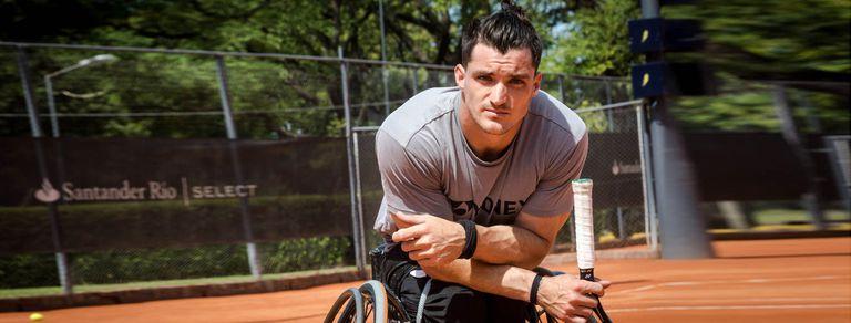 Gusti Fernández, el campeón de tenis adaptado que deslumbró a Djokovic