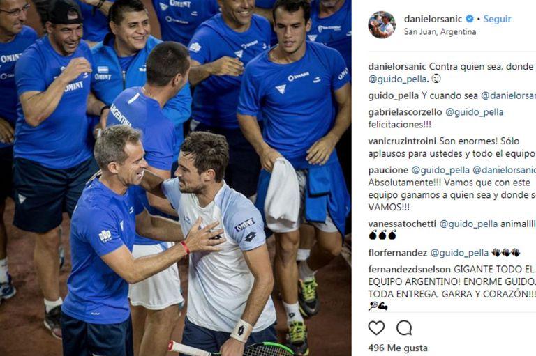 Copa Davis: Orsanic le devolvió el mensaje a Pella, pensando en el futuro