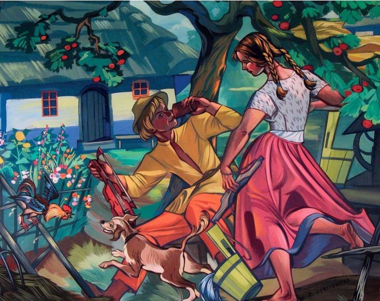 Una granja de pueblo (1960).