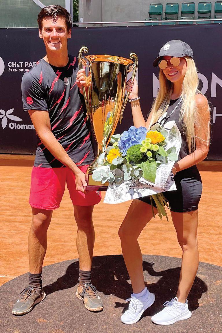 Con el trofeo del Challenger de Prostejov, en República Checa.