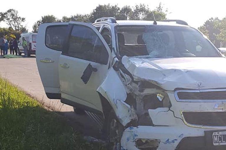 Atropelló con la camioneta y mató a alumno que cruzaba la ruta en bicicleta
