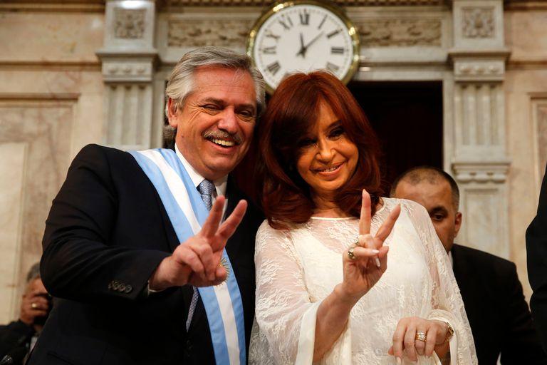 El presidente, Alberto Fernández, y la vicepresidenta, Cristina Kirchner