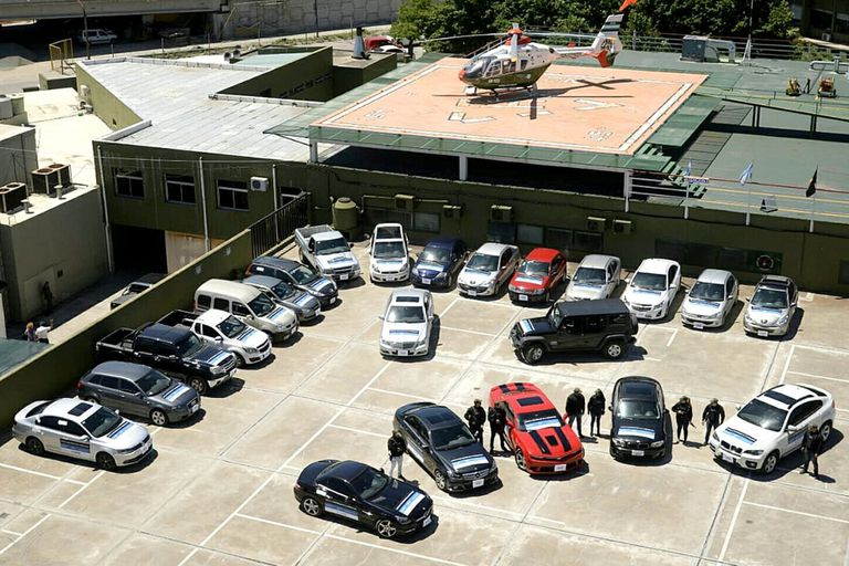 Entregaron a Gendarmería los 23 autos incautados a Balcedo