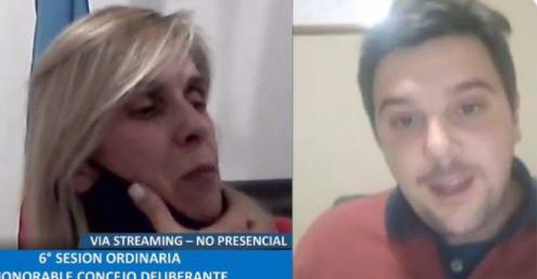 La presidenta del Consejo Deliberante de Navarro, Paola Maggiotti, insultó en plena sesión virtual a Mateo Natalini