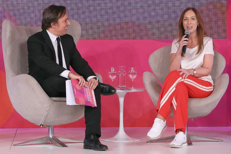La gobernadora bonaerense, María Eugenia Vidal, dialogó con José Del Rio, secretario general de Redacción de LA NACION