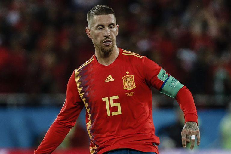 Sergio Ramos, el capitán de España, es titular ante Rusia