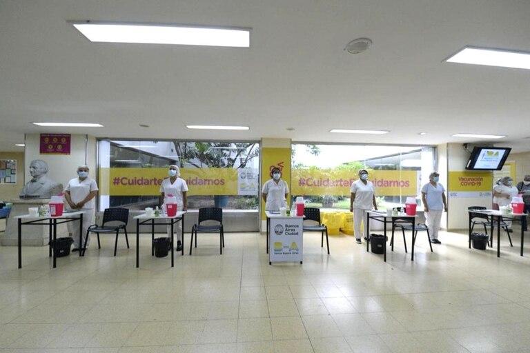 Todo dispuesto en el hospital Argerich para vacunar contra el coronavirus