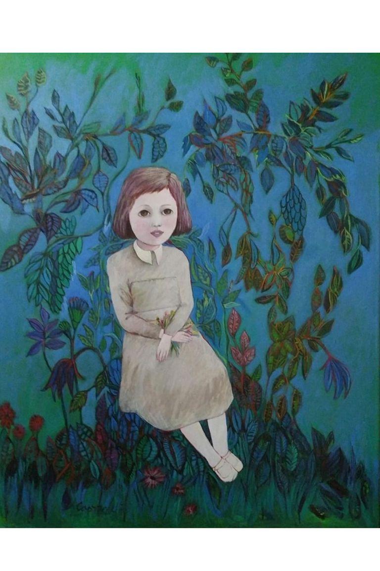 """""""La sombra y la flor"""", pintura de Norma Capponcelli"""