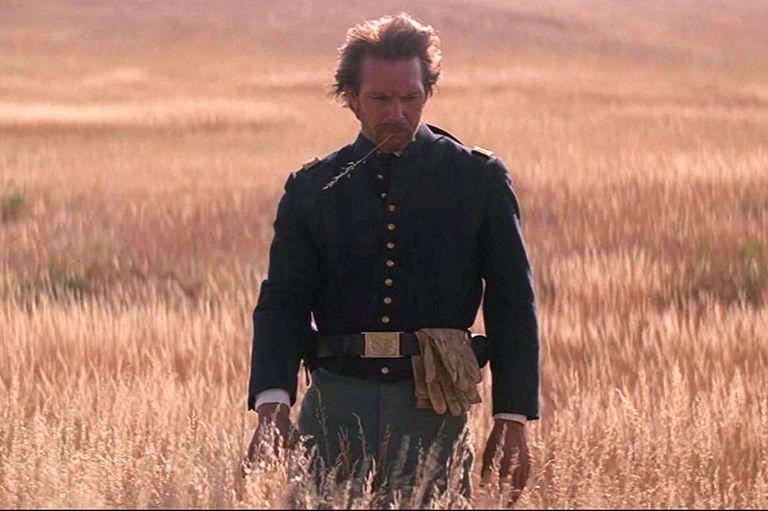Kevin Costner en Danza con lobos