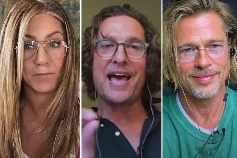 El reencuentro entre Brad Pitt y Jennifer Aniston llamó mucho la atención y Matthew McConaughey tiene algo que decir al respecto