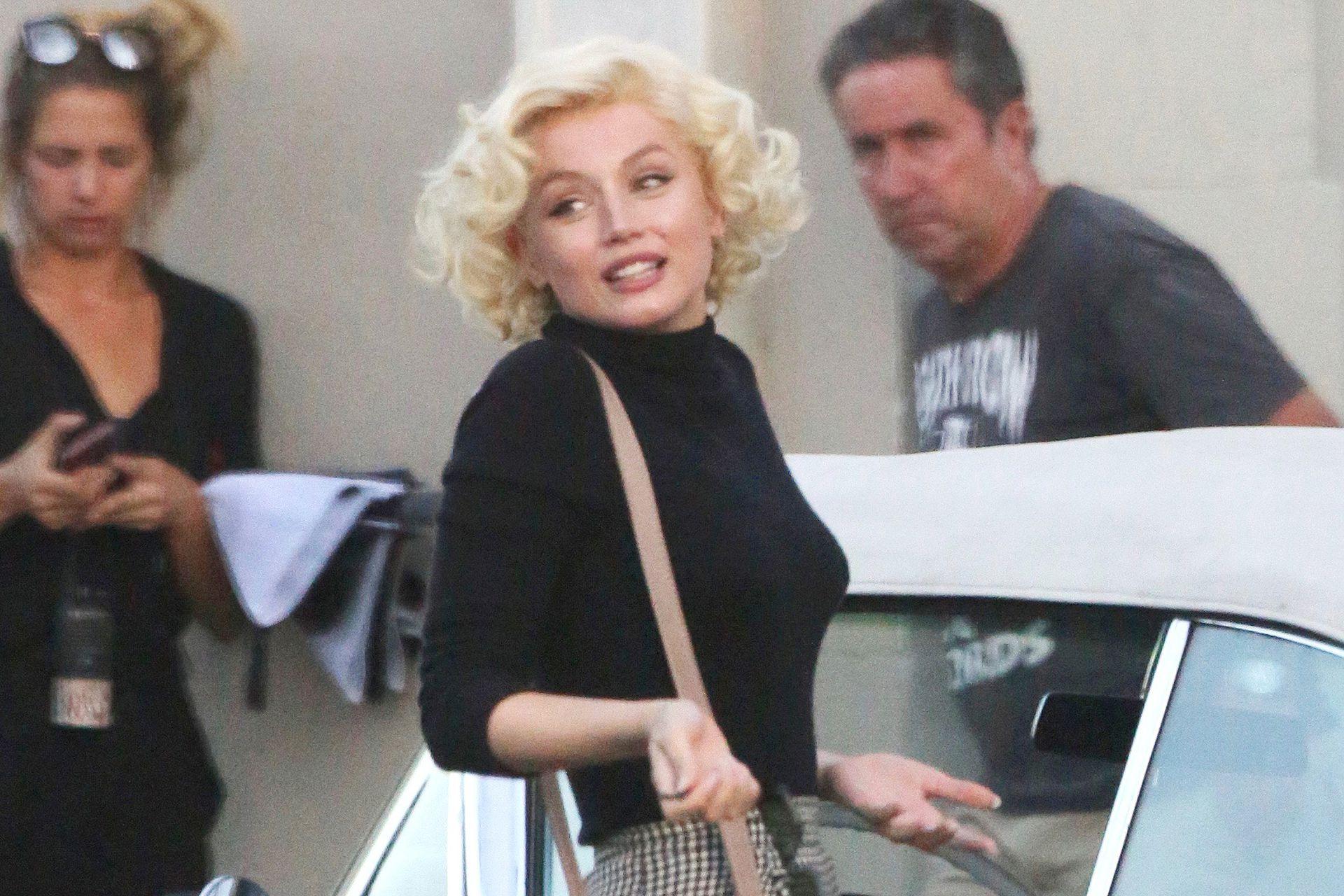 Ana de Armas como Marilyn Monroe