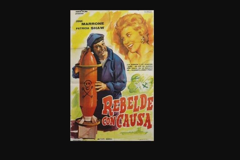 """En 1961 y junto a Pepe Marrone, Patricia debutó en el cine con """"Rebelde con causa"""""""