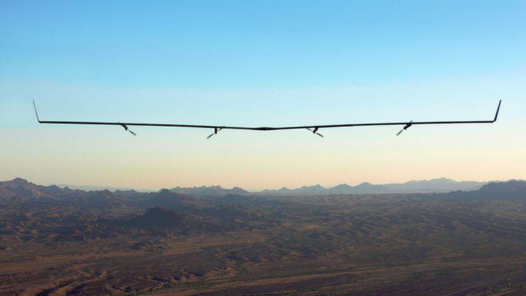 El drone Aquila, alimentado por luz solar