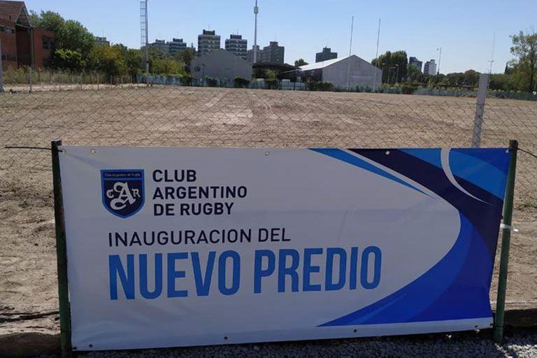 El terreno donde el Club Argentino de Rugby inauguró su tercera cancha, en Avellaneda
