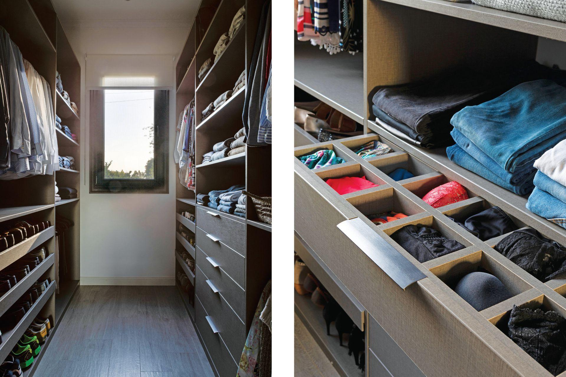 Diseñado por el Estudio AT Arqs. y organizado por 'Sos En Orden', el vestidor es un espacio absolutamente estético y funcional.