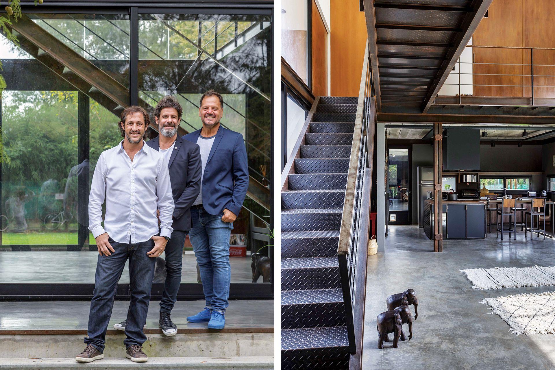 Los arquitectos Eugenio Casano, Sebastián Lebuis y Julián Carluccio, del estudio CLC.