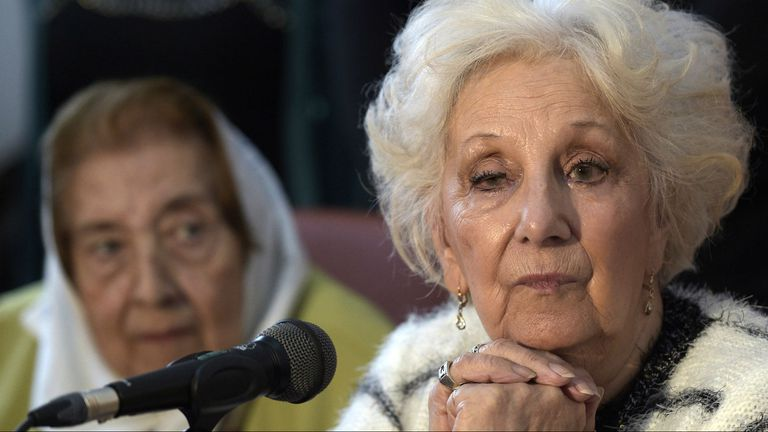 Estela De Carlotto, titular de la Asociación de Abuelas de Plaza de Mayo