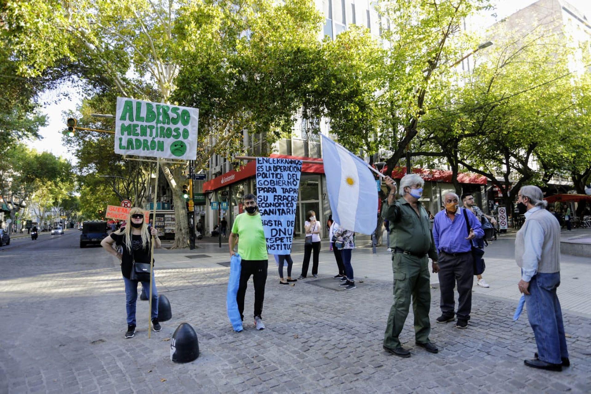 Protesta por el #17A en Mendoza