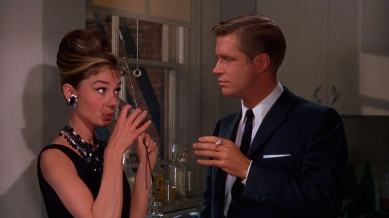 Audrey Hepburn y George Peppard en Desayuno en Tiffany''s, de Blake Edwards