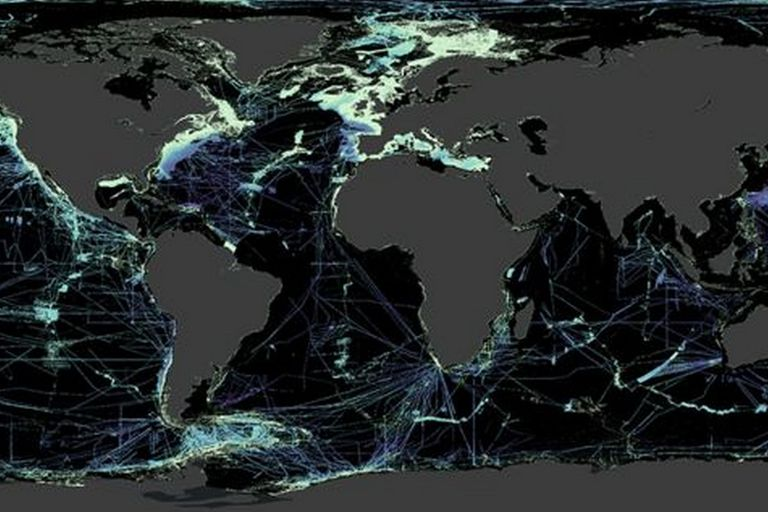 Las zonas negras del mapa aún necesitan ser sondeadas para obtener más información de ellas