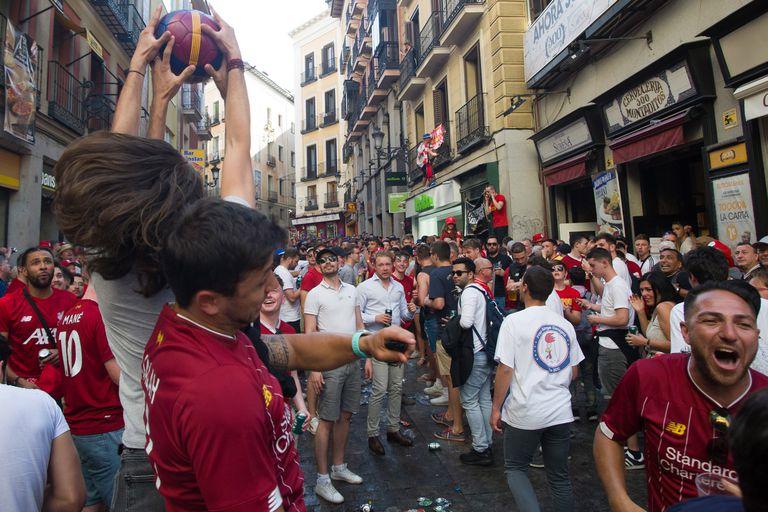 Los hinchas tomaron las calles de Madrid.