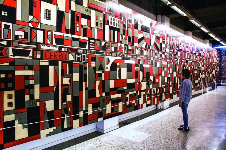 El gran mural realizado por Gurvich en el museo que lleva su nombre.