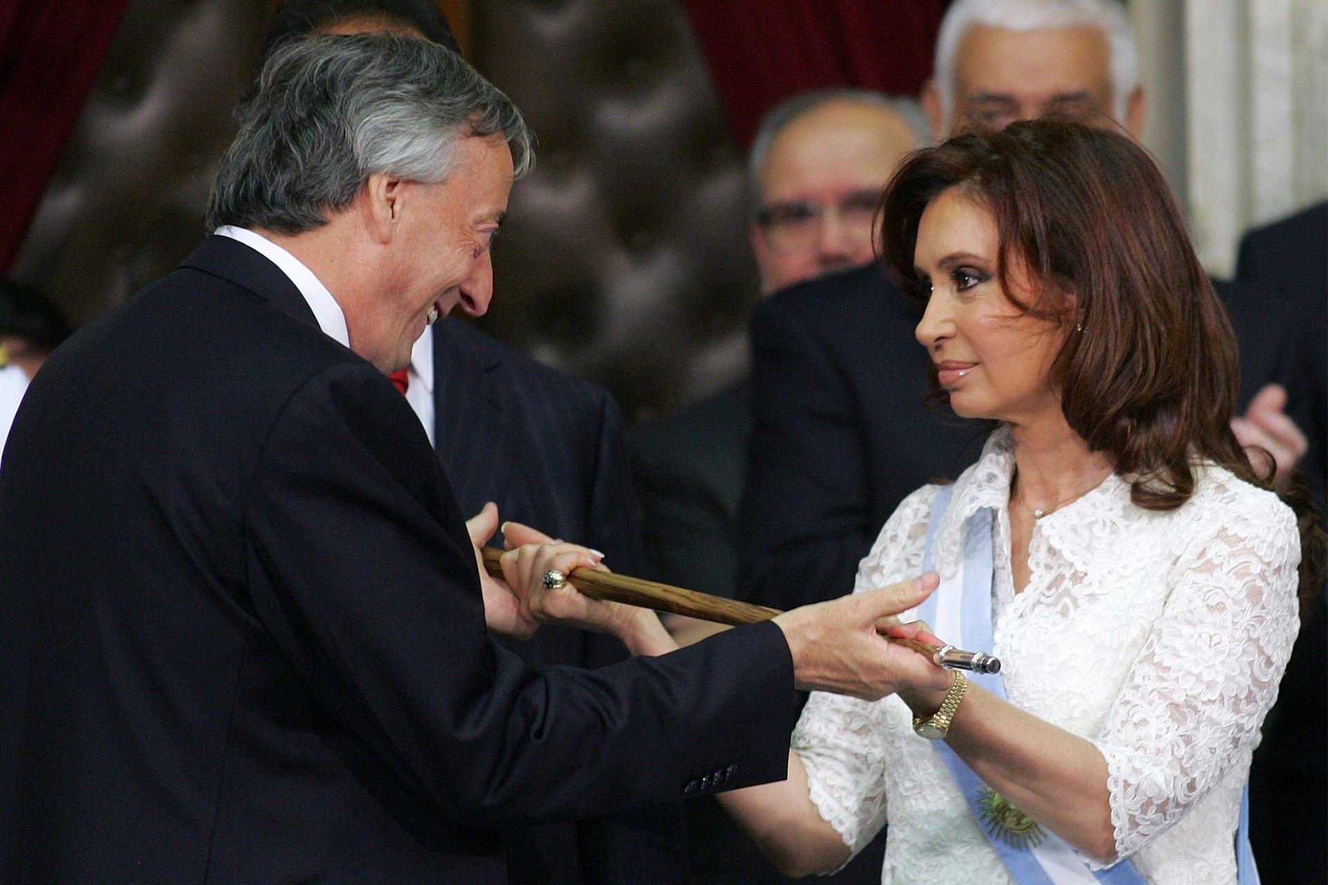 El 10 de Diciembre de 2007, el traspaso de mando de Néstor Kirchner a su esposa Cristina