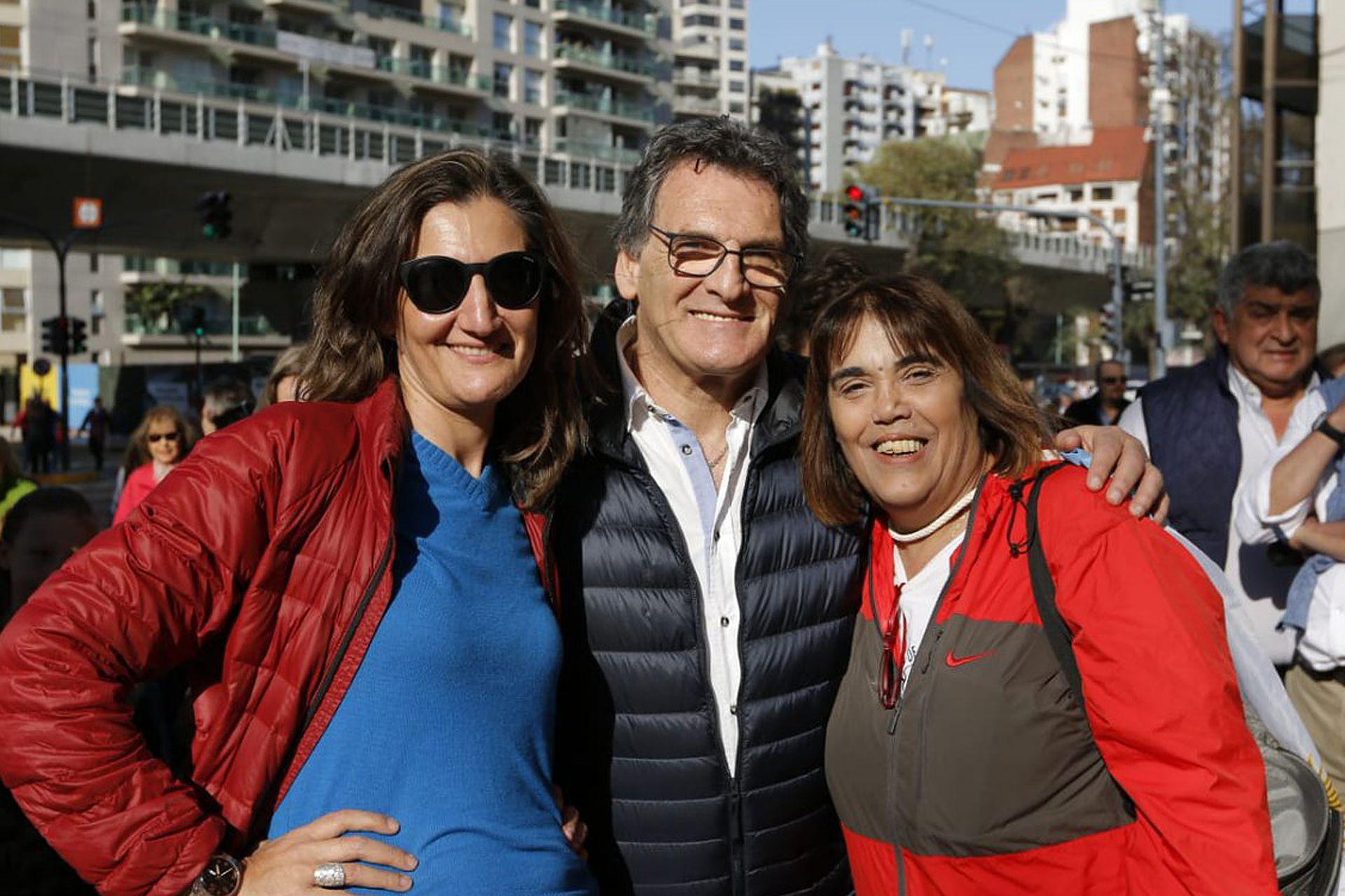 """Claudio Avruj, secretario de derechos humanos, en la marcha del """"Sí se puede"""""""
