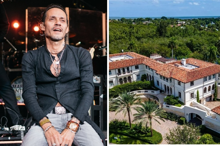 Marc Anthony vendió su casa: tiene tres cocinas y spa pero no le pagaron lo que quería