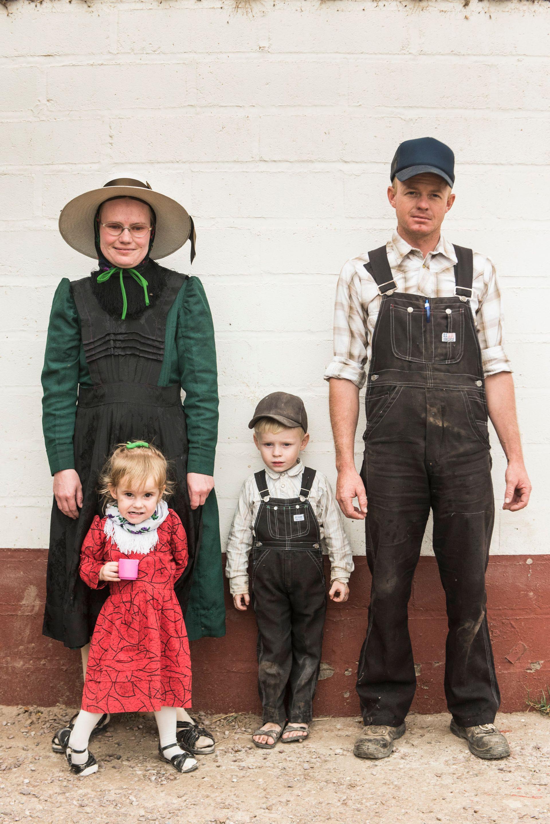 Una familia menonita en la Colonia que está a 20 kilómetros de Las Delicias.