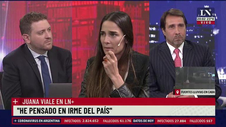 """Juana Viale: """"Lamentablemente pensé en irme del país"""""""