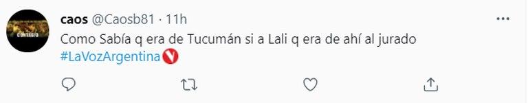 Los usuarios cuestionaron a Lali Espósito porque sabía de dónde venía un participante sin que éste lo hubiera dicho