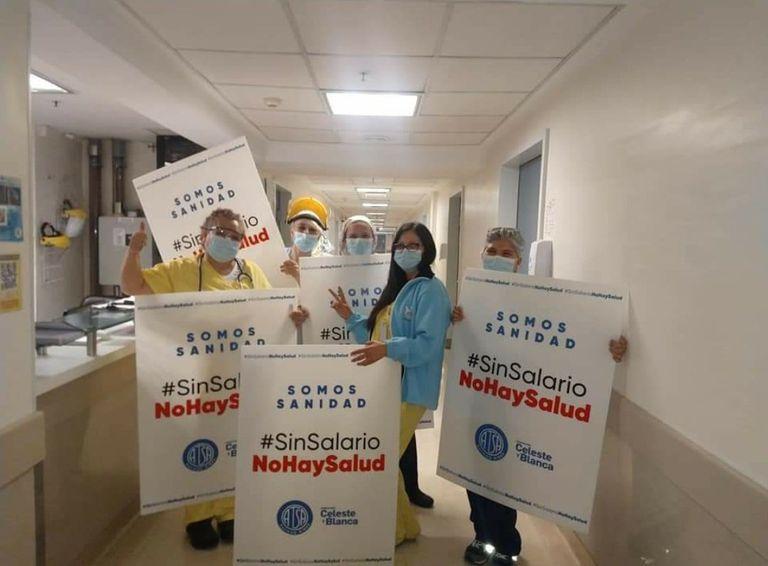 Trabajadores de la salud realizan un paro nacional con alto acatamiento