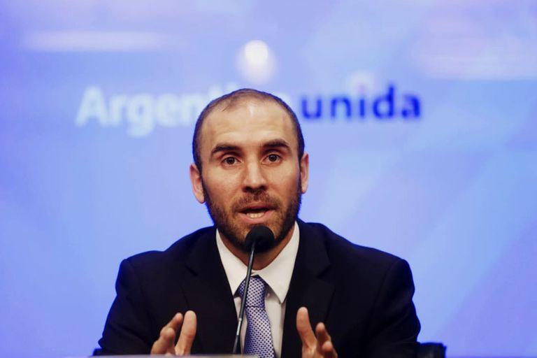 Martín Guzmán, ministro de Economía, en la conferencia de prensa