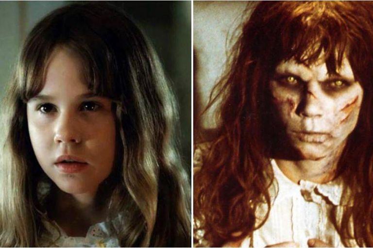 Linda Blair y su personaje en El Exorcista