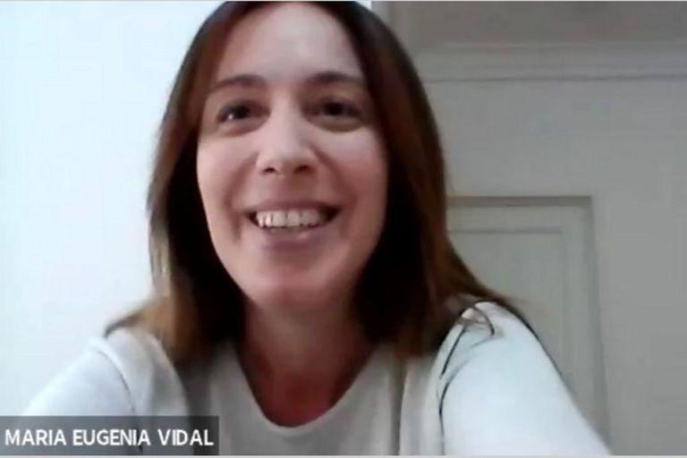 María Eugenia Vidal, en uno de los encuentros virtuales con los que continúa su construcción política