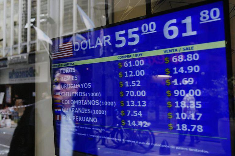 El dólar en la city porteña