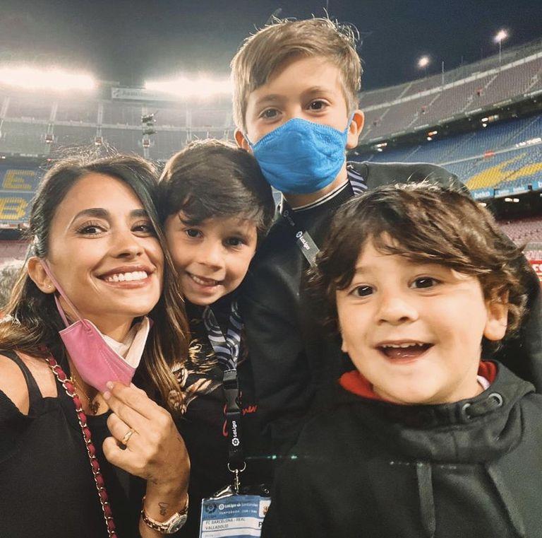 La presencia de la familia de Messi en el Camp Nou, en un homenaje especial para el 10