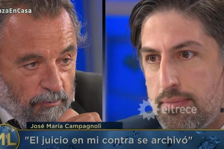 Al aire: José María Campagnoli y Nicolás Trotta protagonizaron un tenso cruce