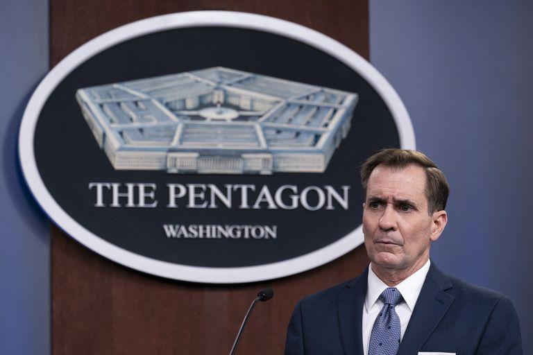 John Kirby, vocero del Pentágono, quien anunció la decisión del presidente