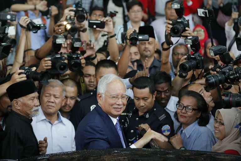 El expremier Najib Razak, en los tribunales