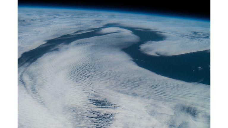 Campo de nubes de estratos sobre el Atlántico noreste