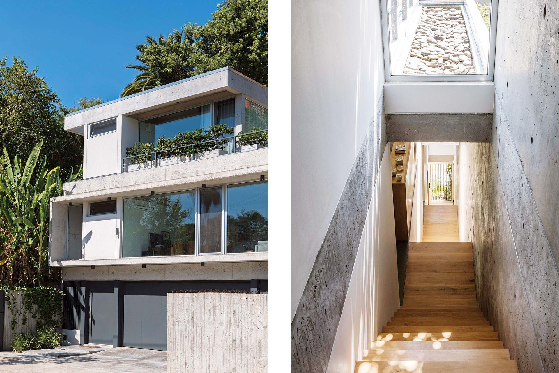 En planta baja: garage, lavadero y hall de entrada. En primer piso,: cocina, living-comedor y galería con pileta. En el segundo, área de estar y los dormitorios. Arriba de todo, un ambiente rodeado de terraza que, en una segunda etapa, puede convertirse en estudio o nueva suite.