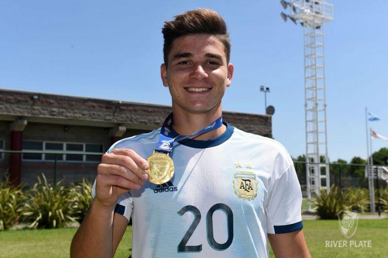 Julián Álvarez fue campeón del Preolímpico Sub-23 con la selección argentina